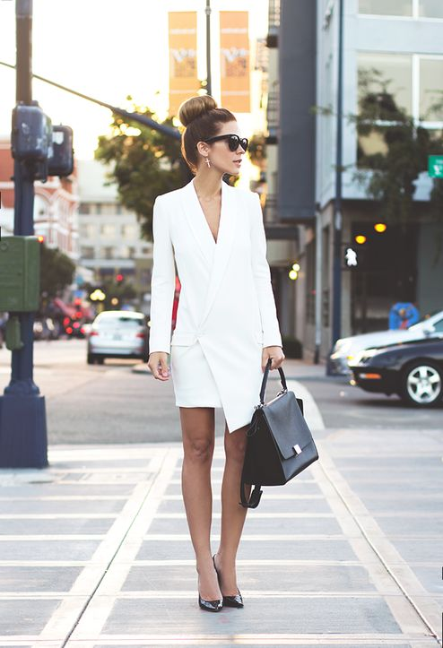 white-tailored-dress