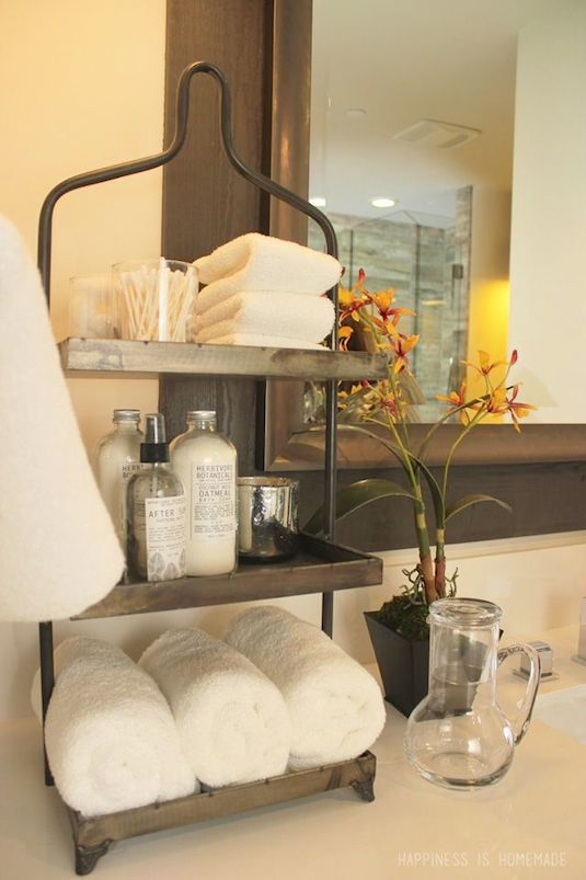 17.-Use-tiered-storage-for-small-counter-tops-29-Sneaky-Tips-For-Small-Space-Living