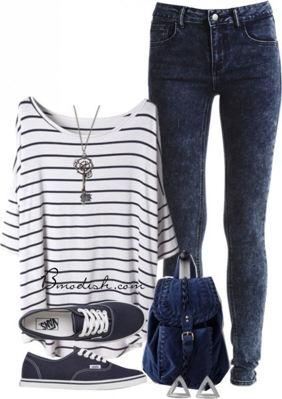 7-cute-outfits-for-school-with-striped-tops1