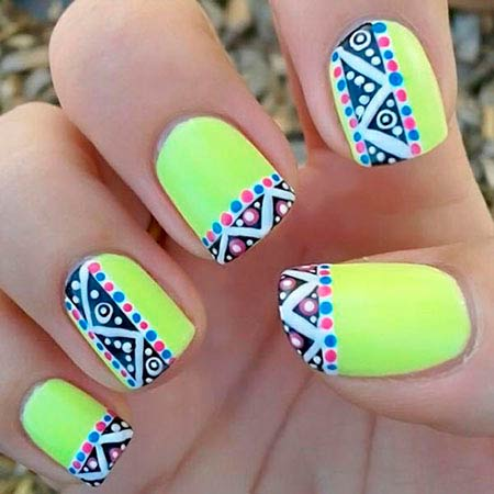 20 eye catching neon nail designs to try this summer neonnailartdesigns3 neonnailartdesigns3 prinsesfo Choice Image