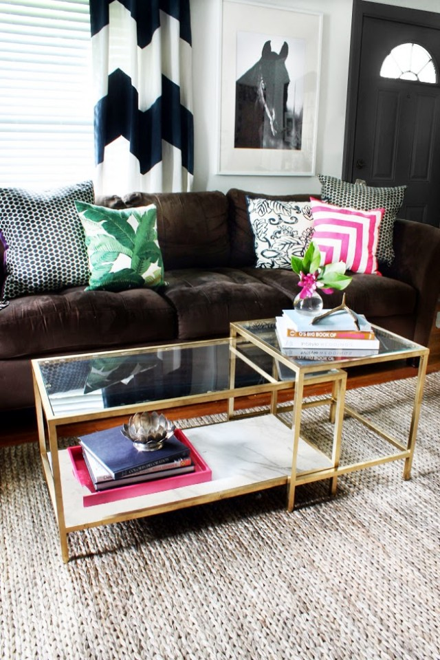 7-ikea-hack-diy-Coffee-Table-gold-spray-paint-how-to-budget-easy-makeover-cheap-marble-faux-fake-metallic-living-room-glass-top-better-decorating-bible-blog