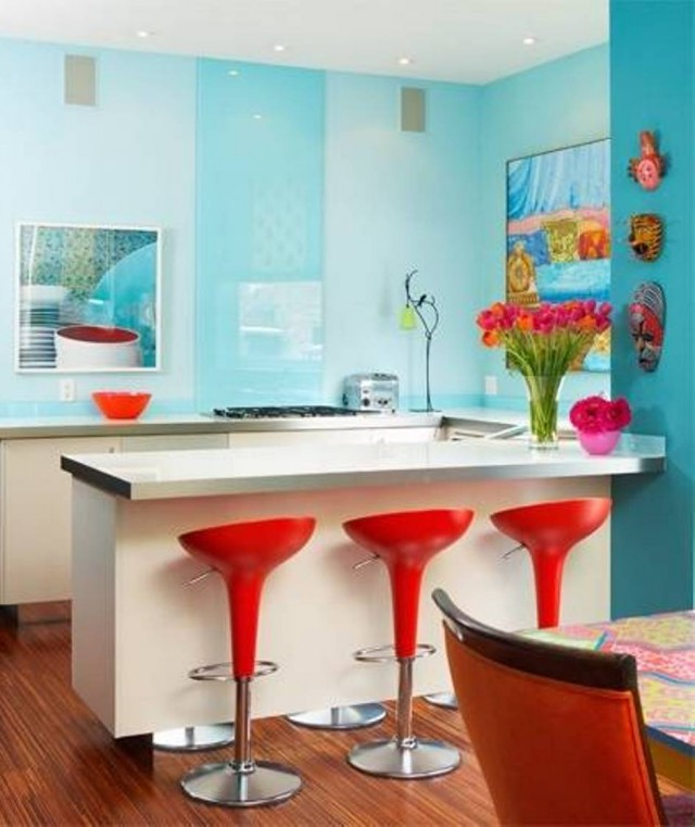 Colorful-Kitchen-Designs-For-Small-Spaces-Colorful-Modern-Kitchen-