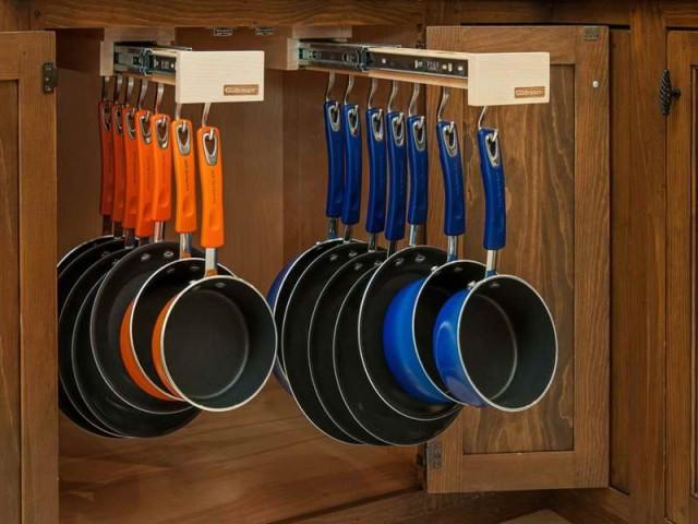 pots and pans storage ideas