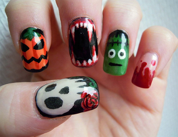 23 Frighteningly Amazing Halloween Nail Designs