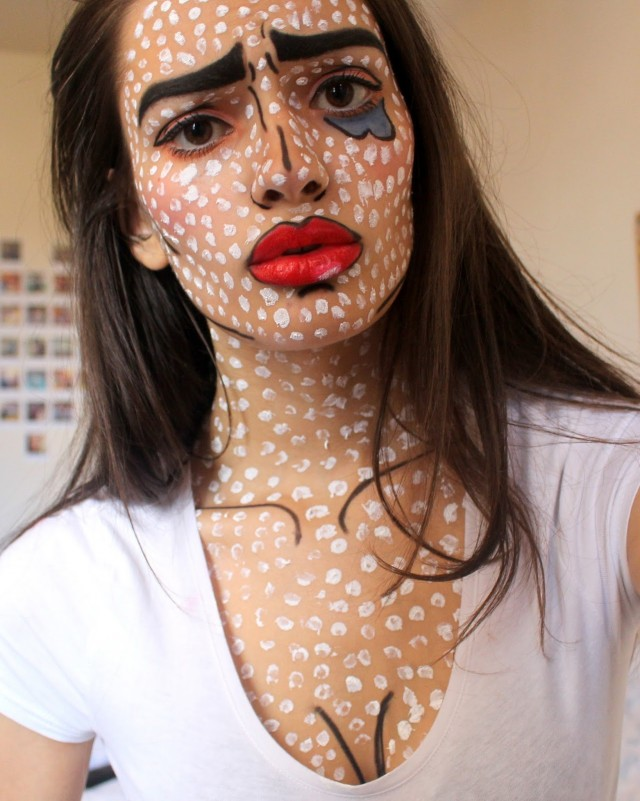 peexo-fashion-beauty-halloween ideas-inspiration-pop art-costume-makeup-halloween (3)