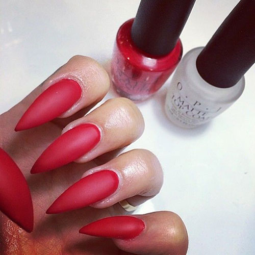 stiletto nails-red