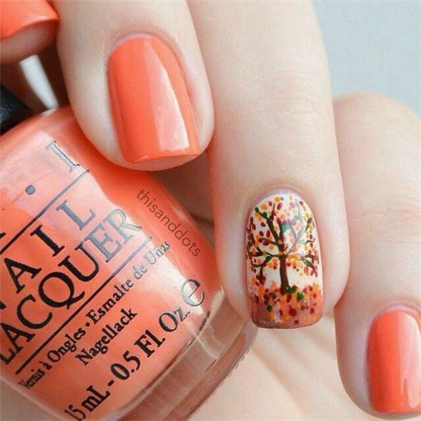 Simple Fall Nail Designs: 21 Cute Thanksgiving Nail Designs You Should Definitely See