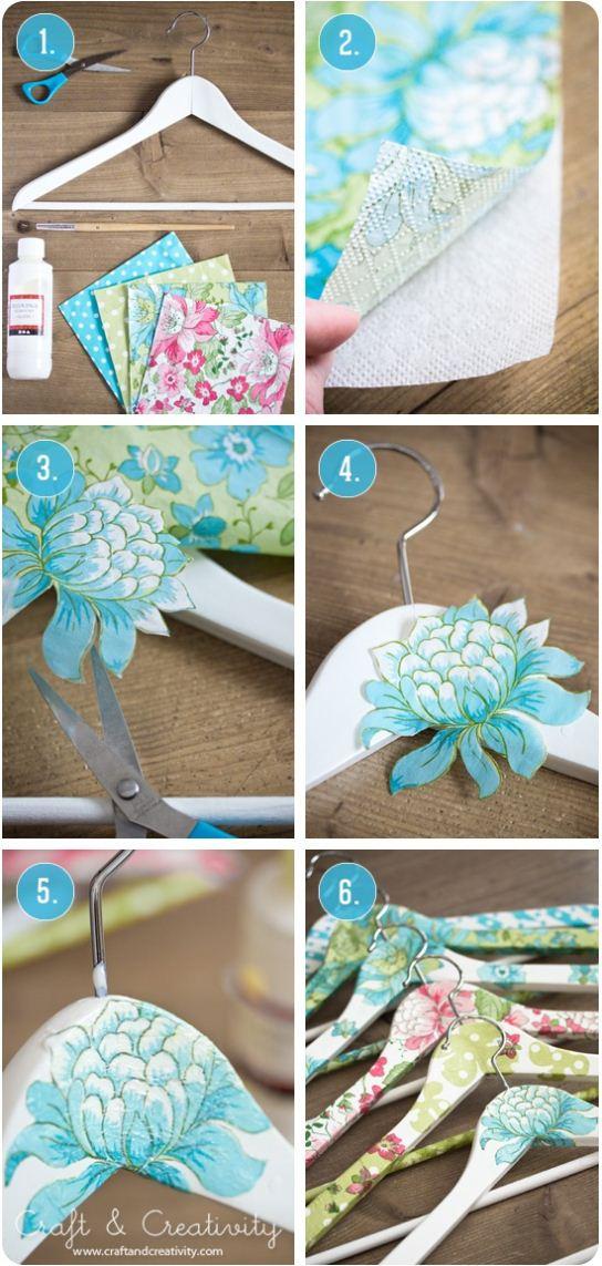 floral hanger idea