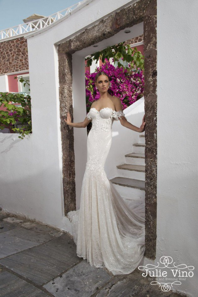 """Santorini"" Bridal Collection by Julie Vino"