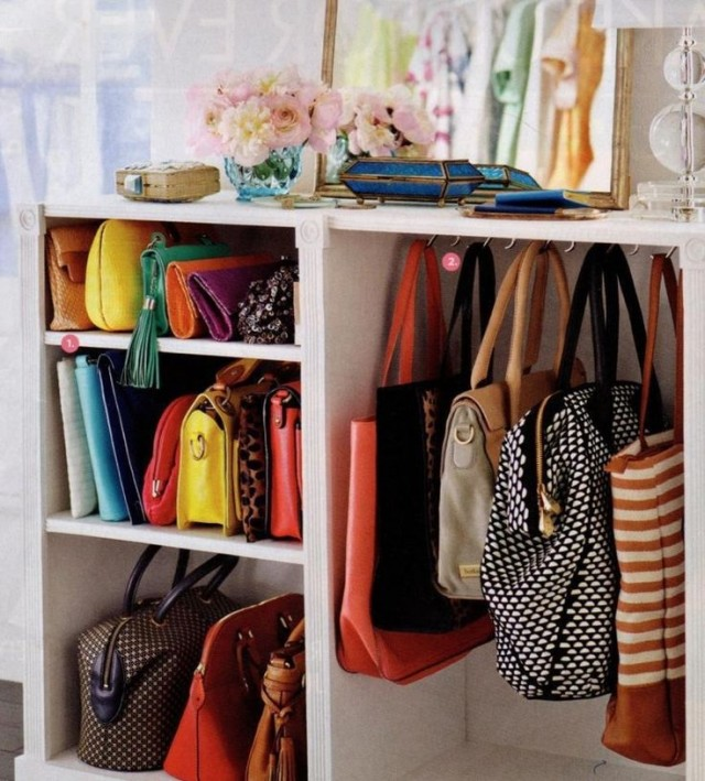 25 seriously life changing storage ideas every woman - Closet organizer for purses ...