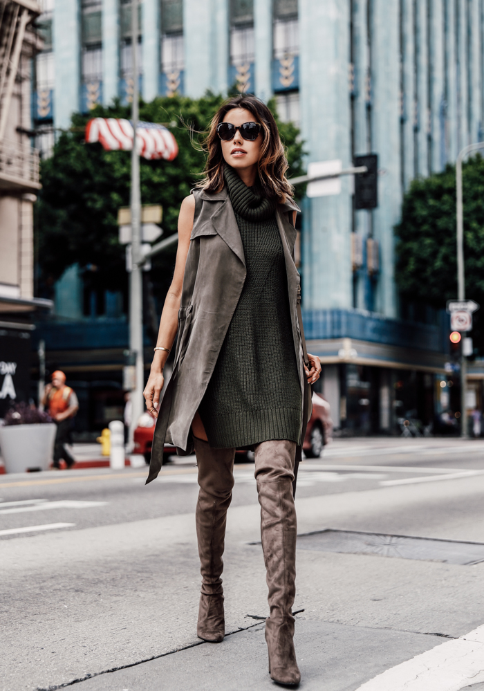 13 Fancy Ways to Style Over the Knee Boots This Fall