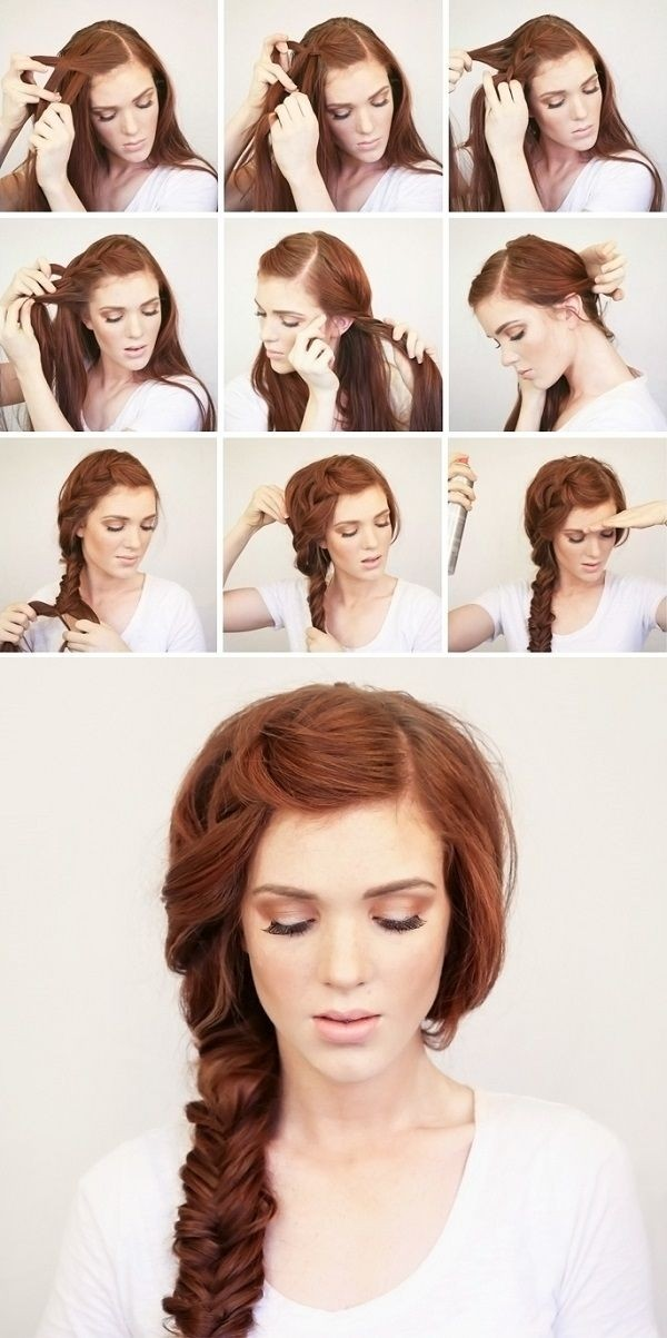 Bohemian Side Braid Hair Style Tutorial-Hairstyle for Long Hair