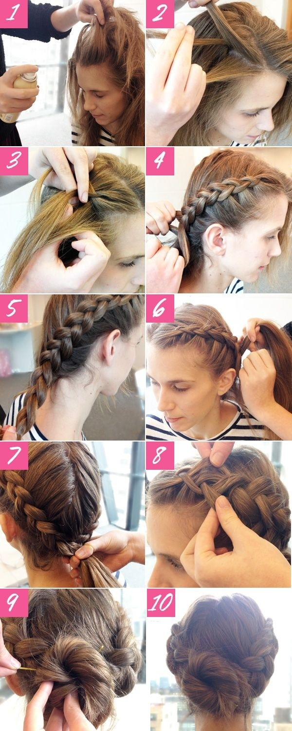 Cute Braided Updos for Long Hair Tutorial