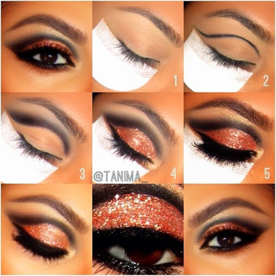 brown glitter makeup