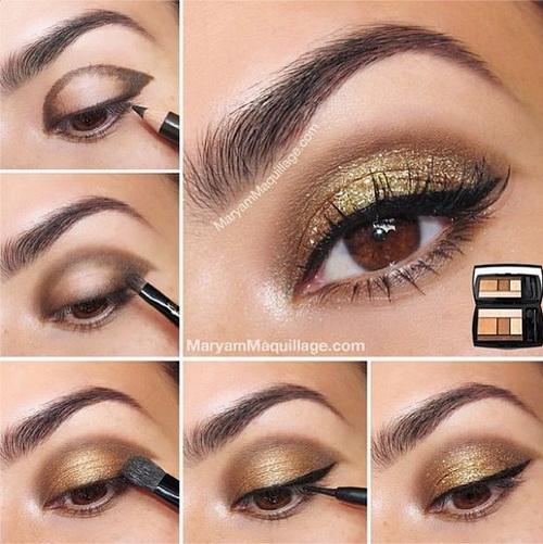 gold glitter makeup2