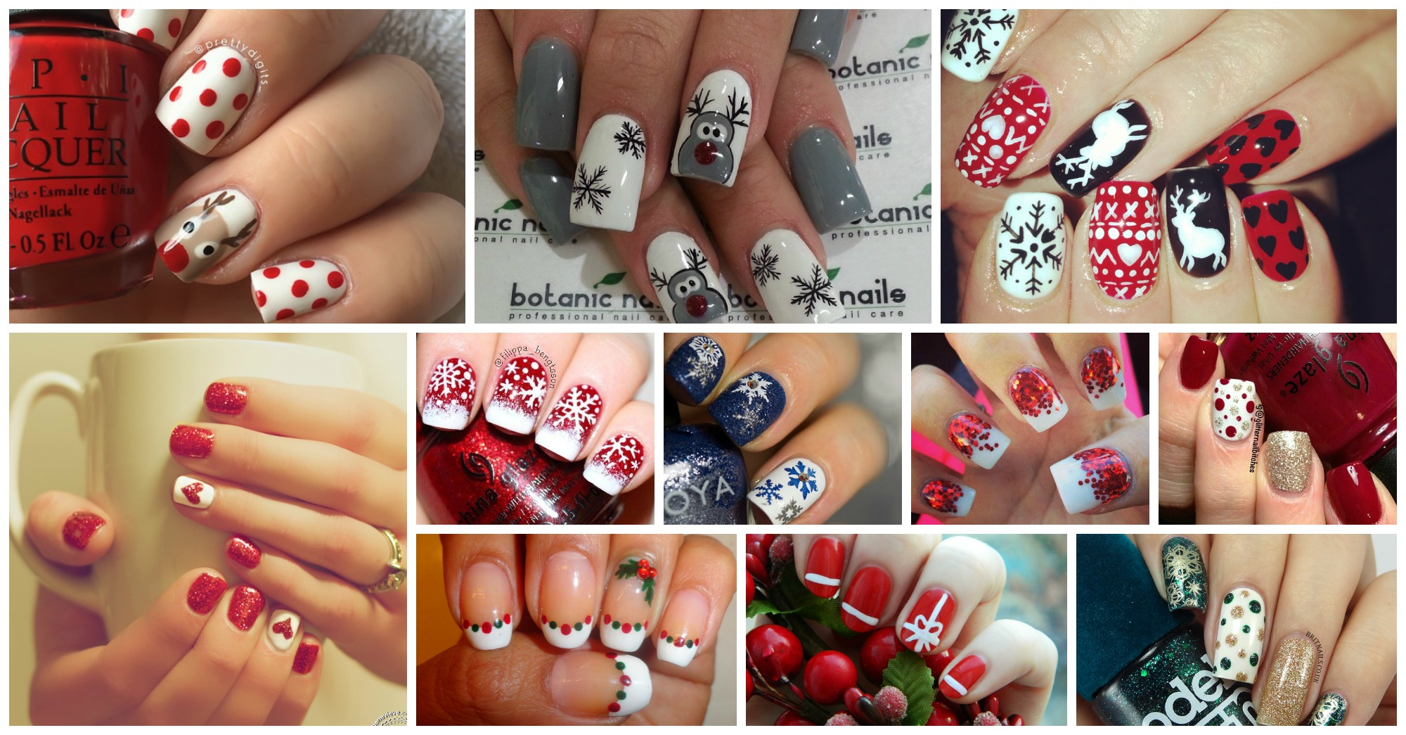 Nails Art: 15 Impressive Christmas Nail Designs