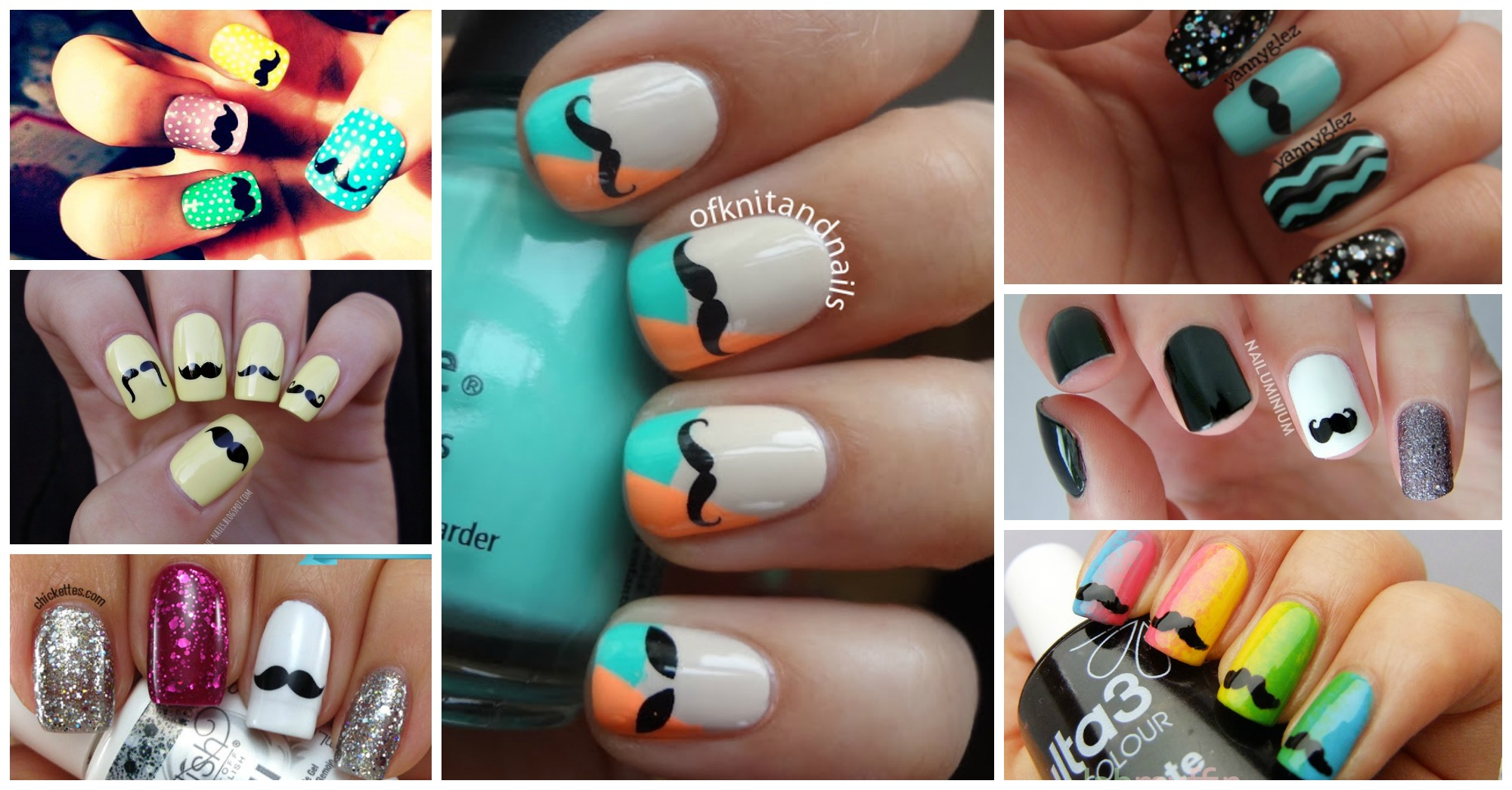 Brilliant Movember Nail Designs to Copy This Month