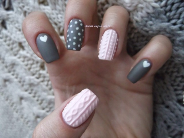 Cable Knit Sweater Nail Art Trend Is So Perfect for Winter Cable Knit Sweater Nail Art Trend Is So Perfect for Winter new foto