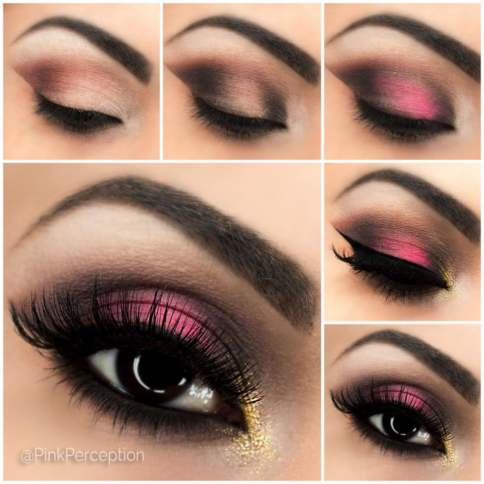 Вечерний макияж для глаз пошаговое