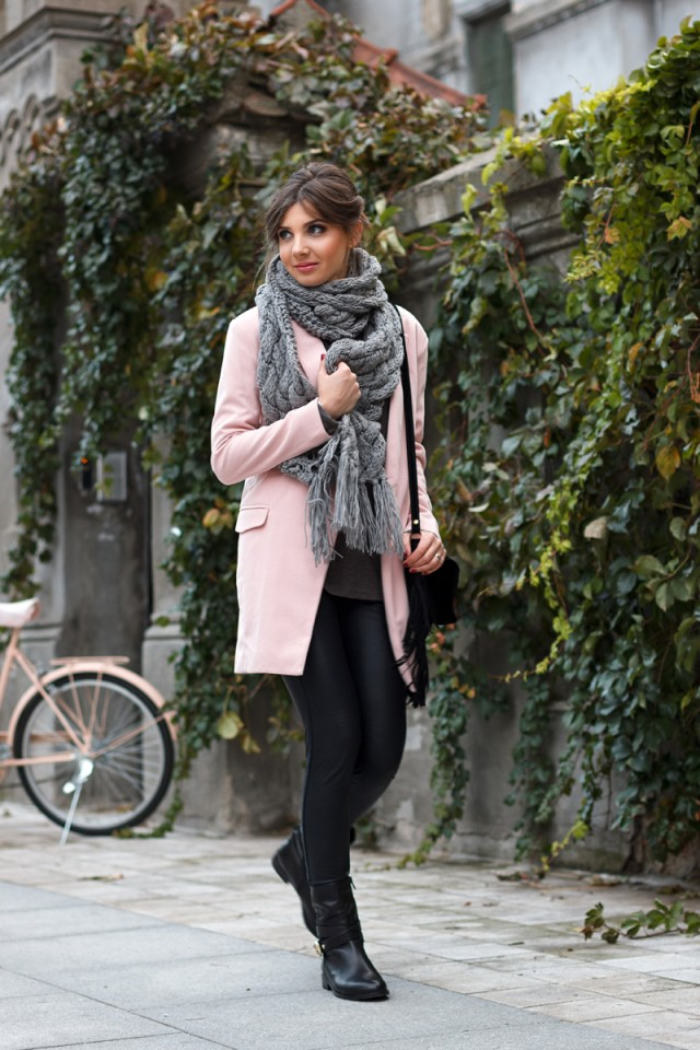 scarf and blouse