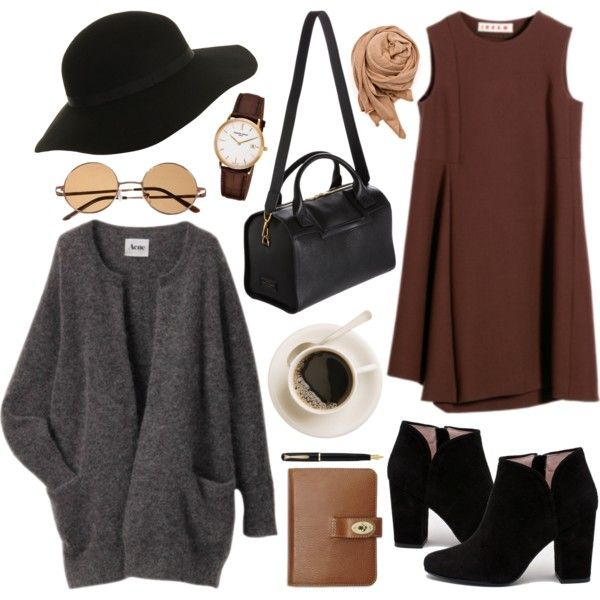 Marvelous Polyvore Outfits With Dresses To Copy This Winter