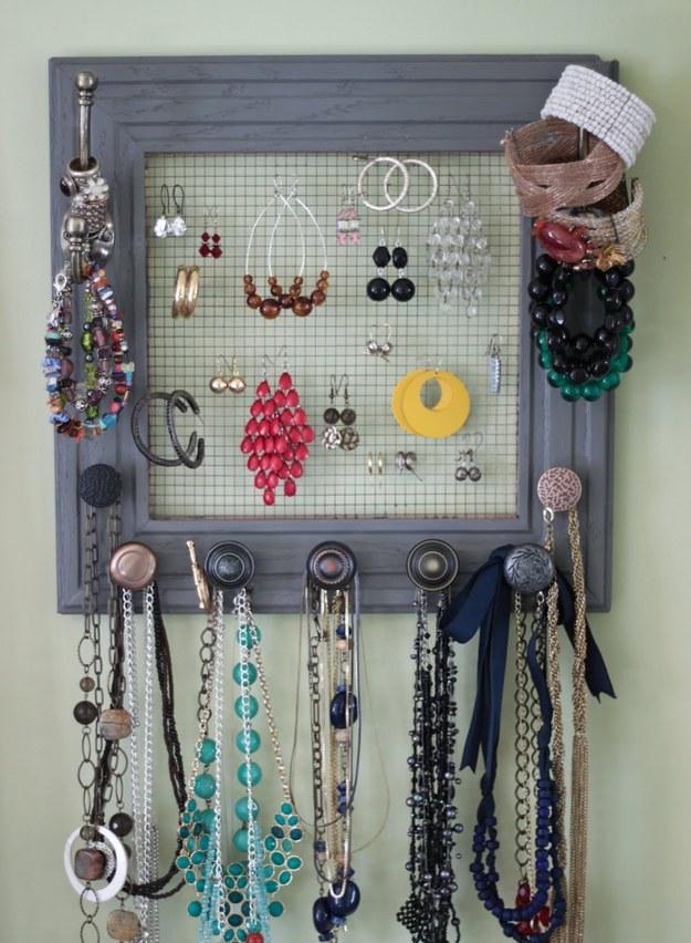 diy jewelry organizer12