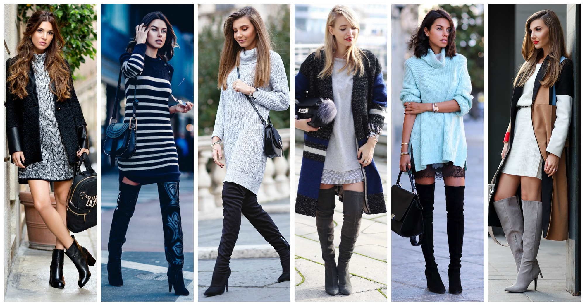 Fabulous Winter Outfits With Knitted Dresses