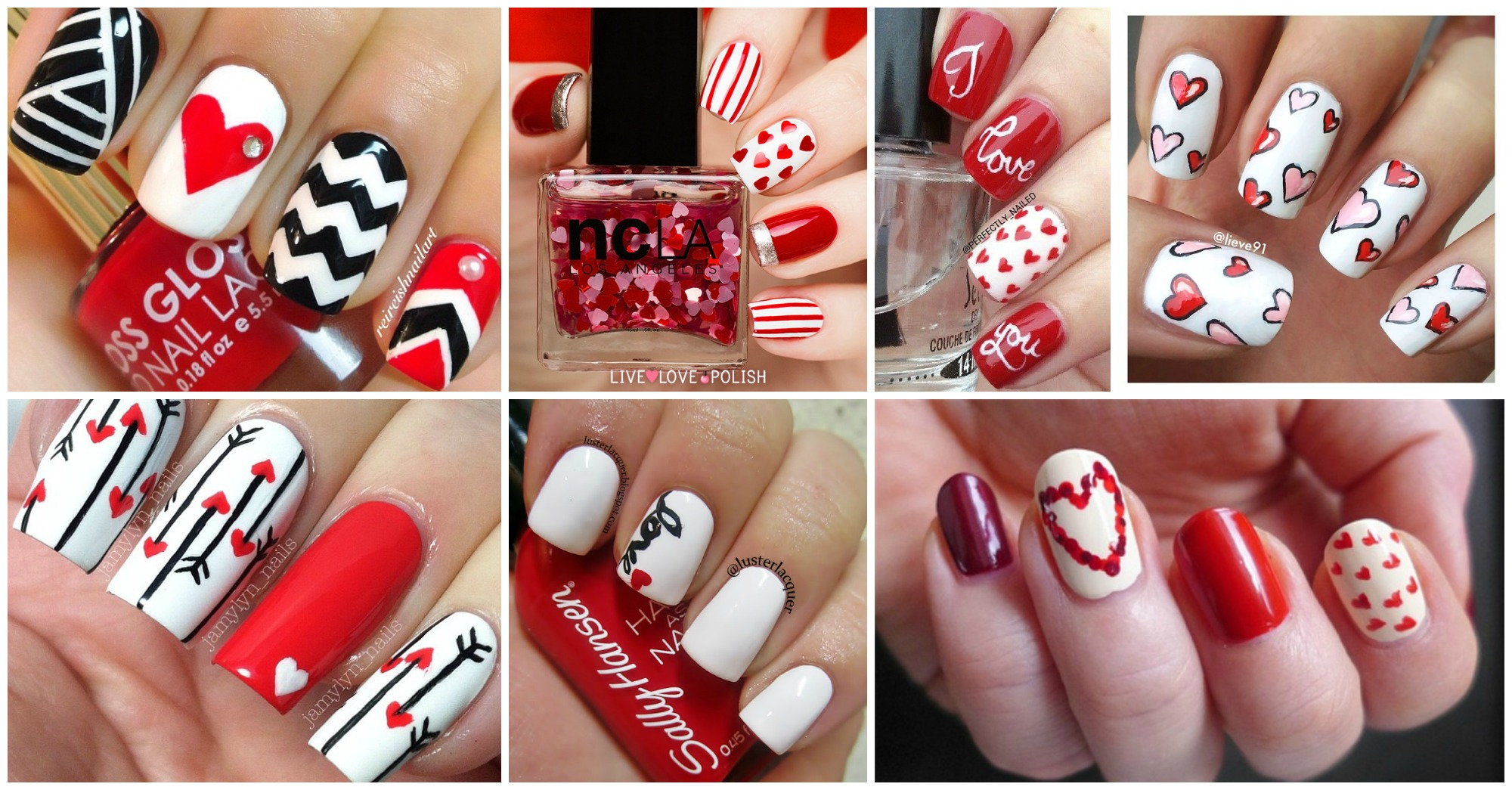 20 Sweet Valentine's Day Nail Art Designs