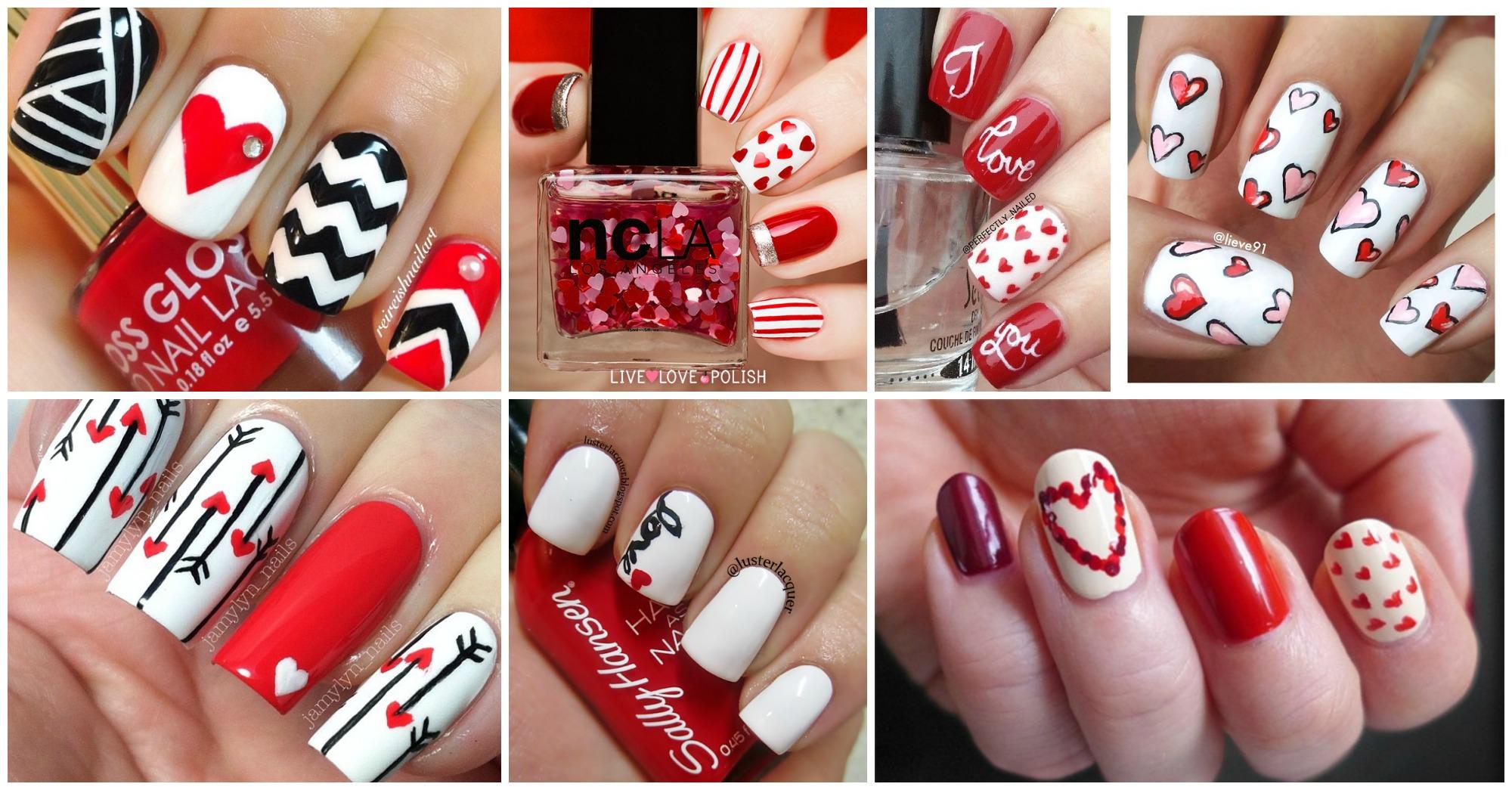 20 Sweet Valentine's Day Nail Art Designs