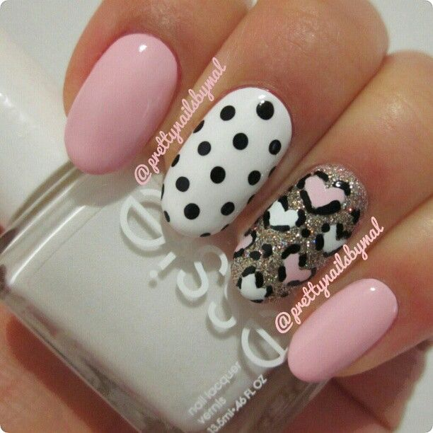 20 sweet valentines day nail art designs image via ink361 nails1 prinsesfo Gallery