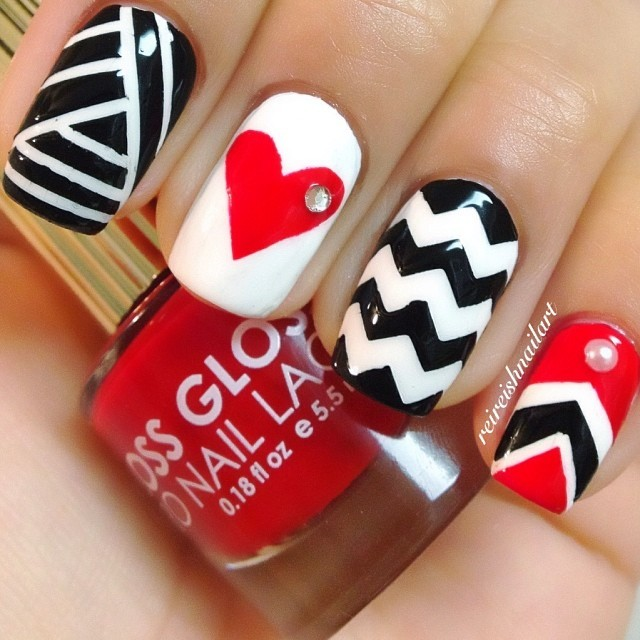 20 Sweet Valentines Day Nail Art Designs