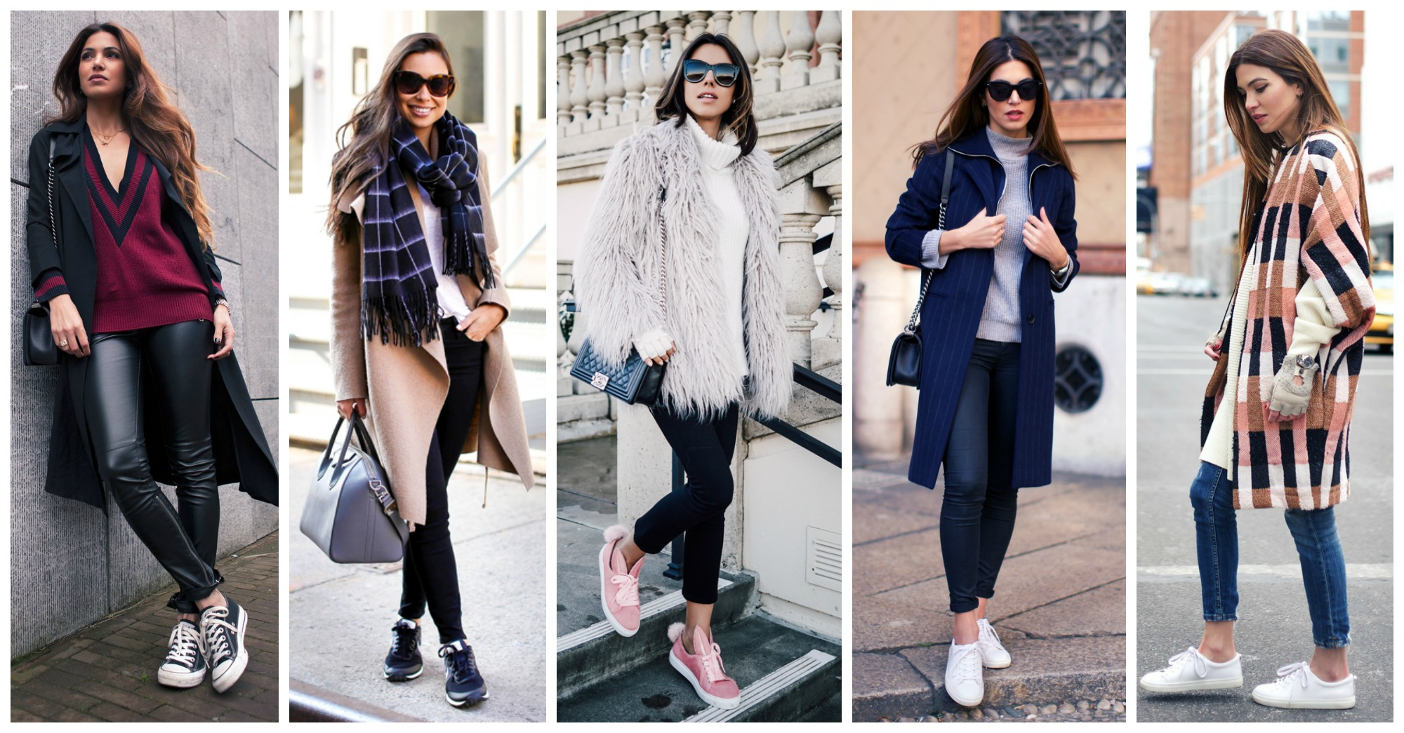 Beautiful Casual Outfits with Sneakers to Wear This Winter