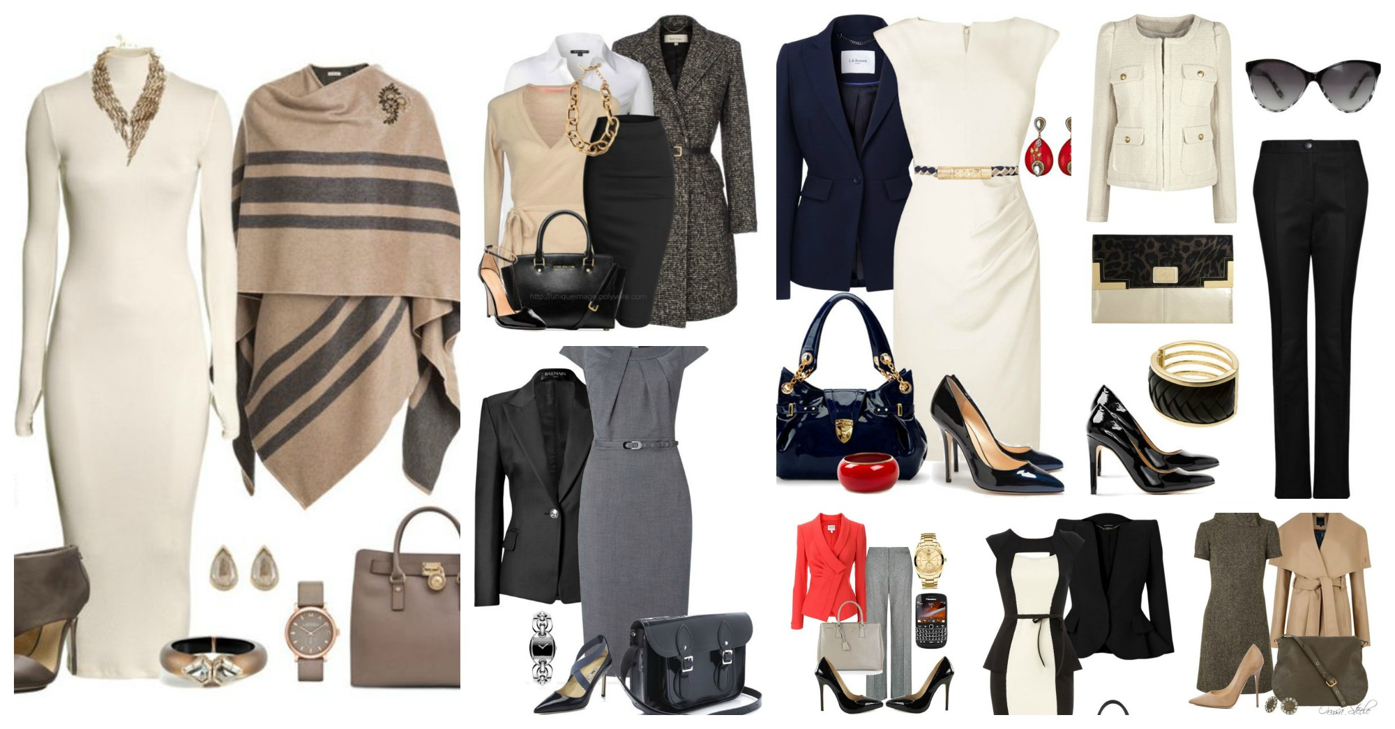 Modern Winter Polyvore Outfits to Wear to Work