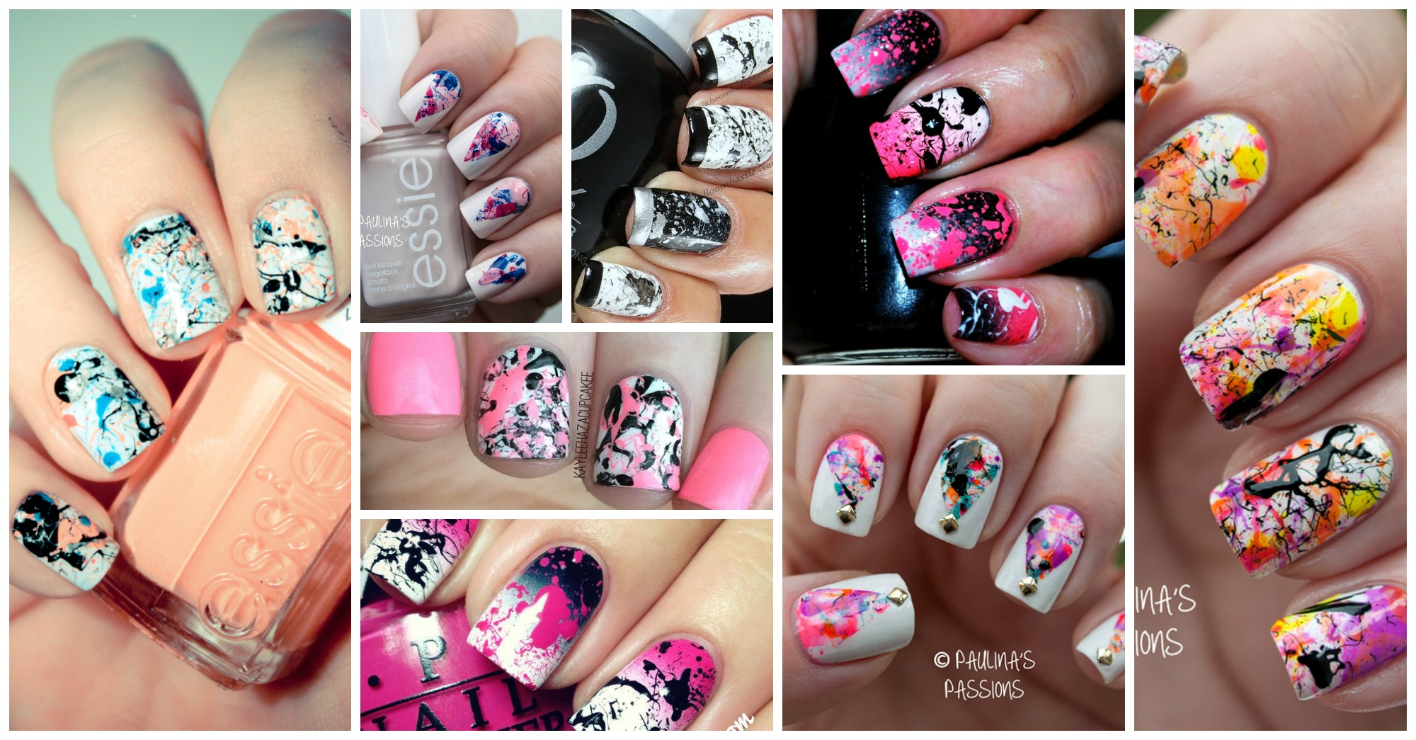 Lovely Splatter Nail Designs That Will Impress You