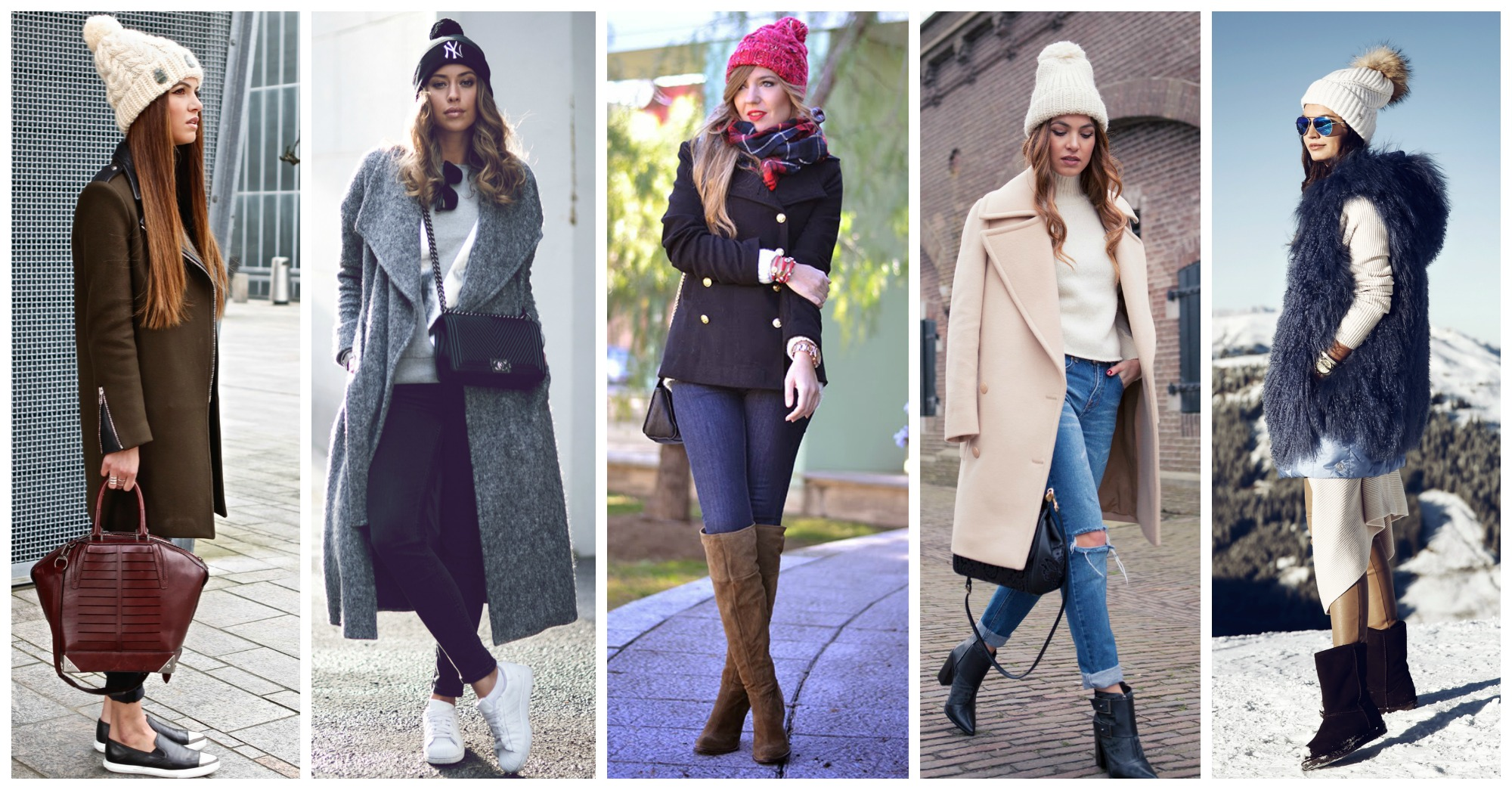 15 Lovely Outfits with Pom-Pom Beanies