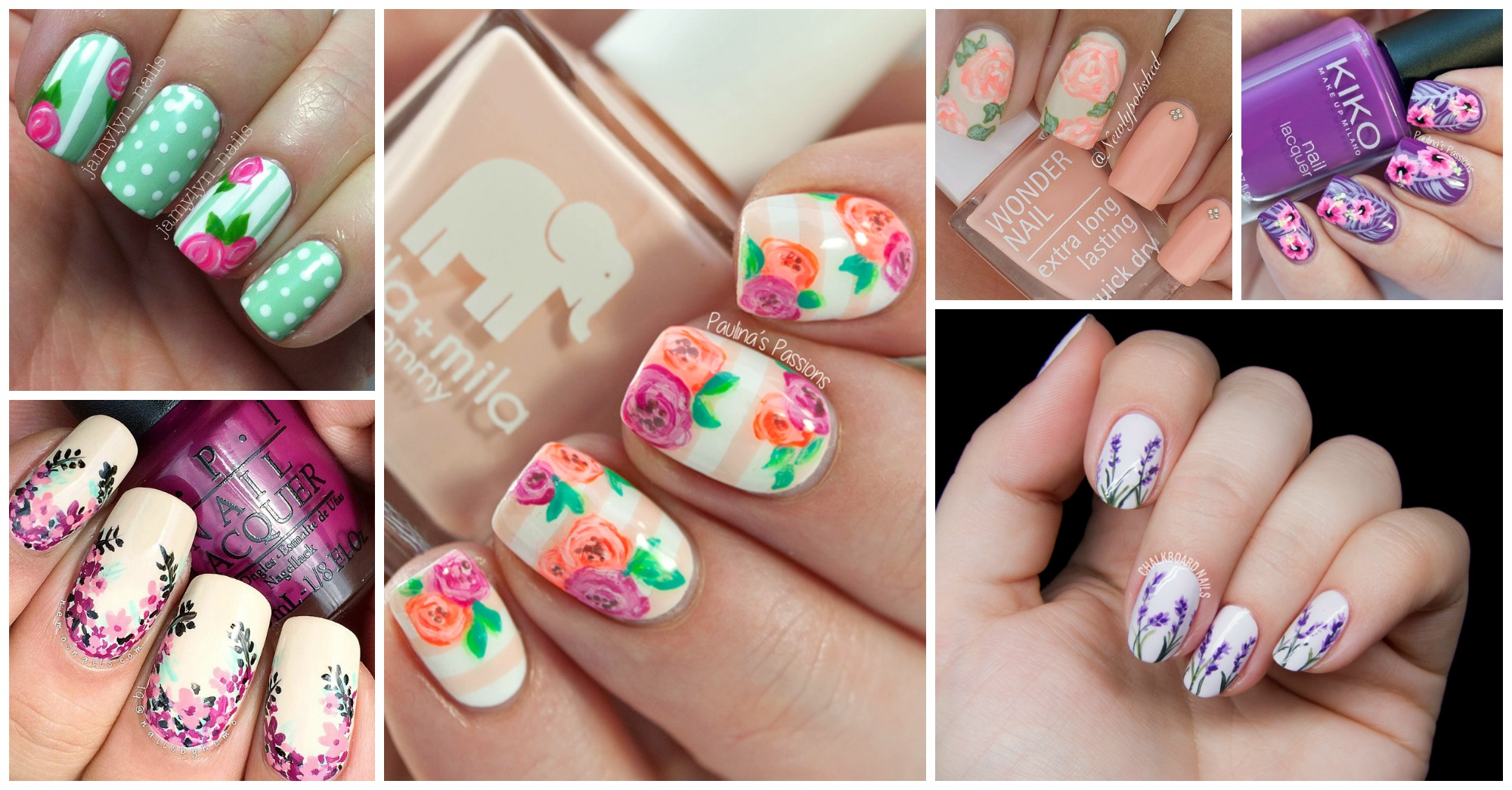 15 Stupendous Floral Nail Designs to Copy This Spring