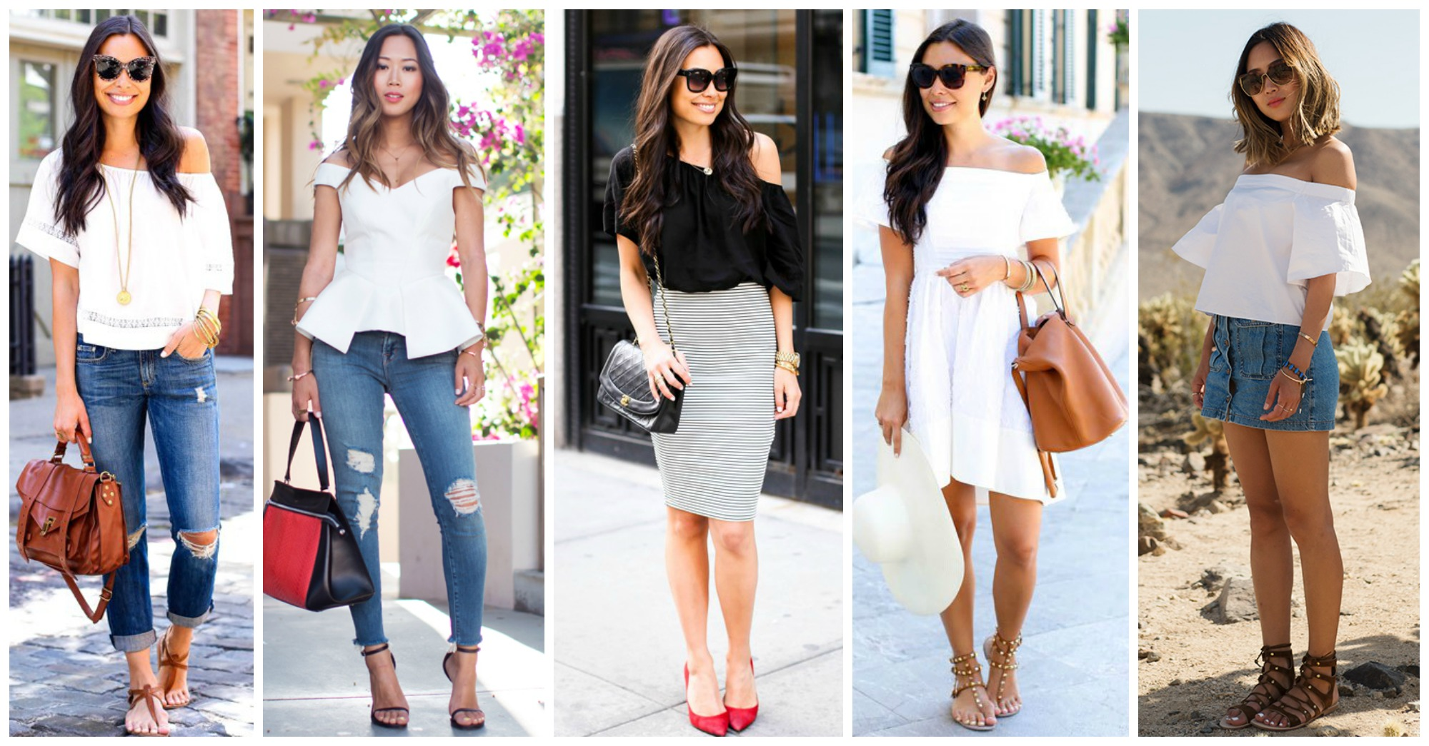 15 Chic Ways to Follow the Off the Shoulders Fashion Trend