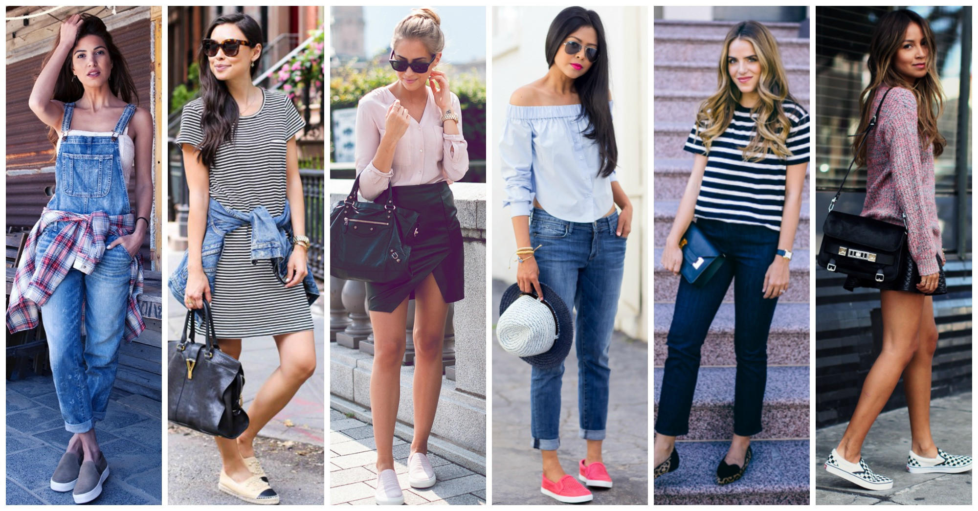 17 Fashionable Ways to Wear Slip On Sneakers In Spring