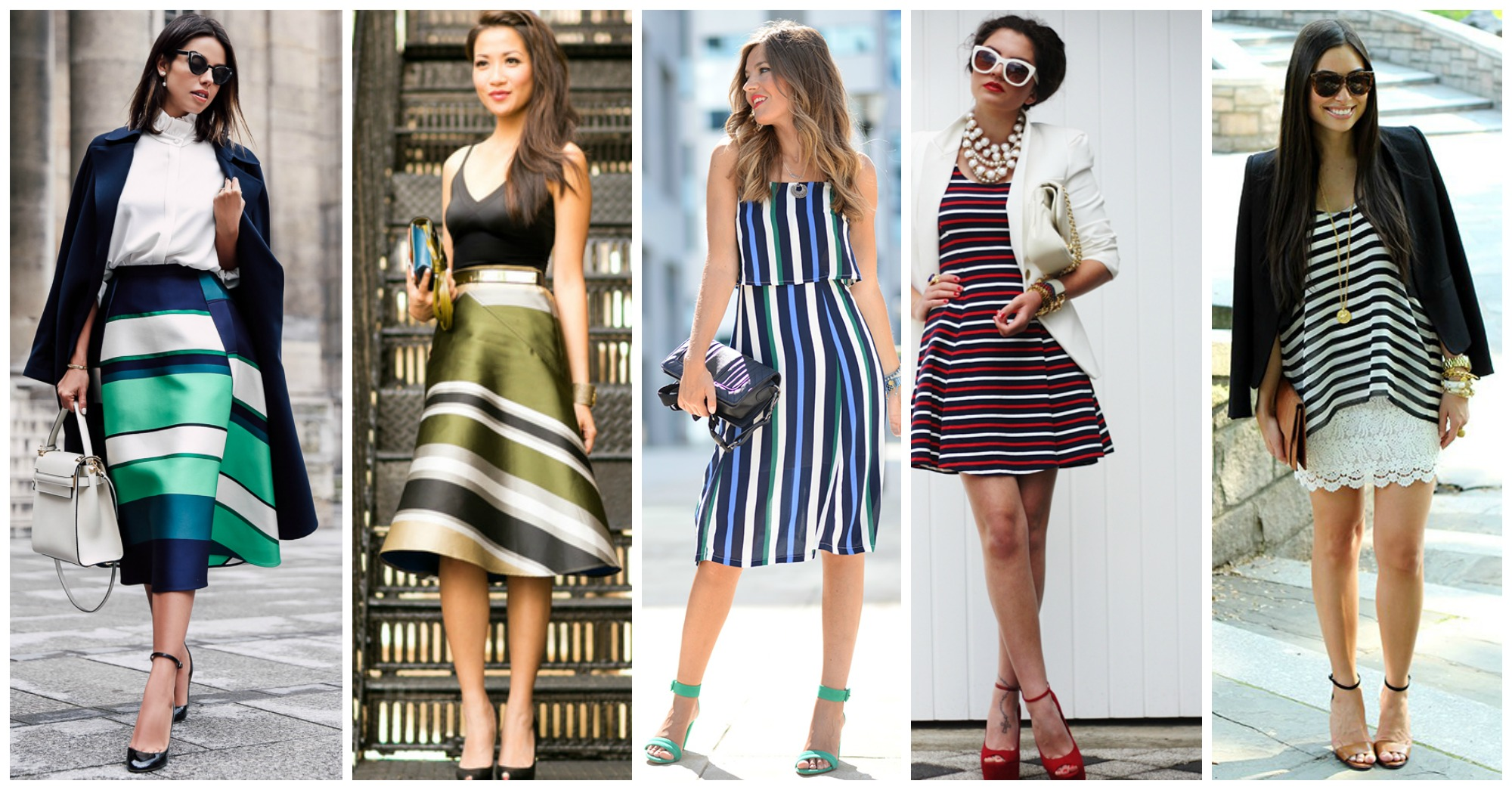 10 Fashionable Outfits to Follow the Striped Trend