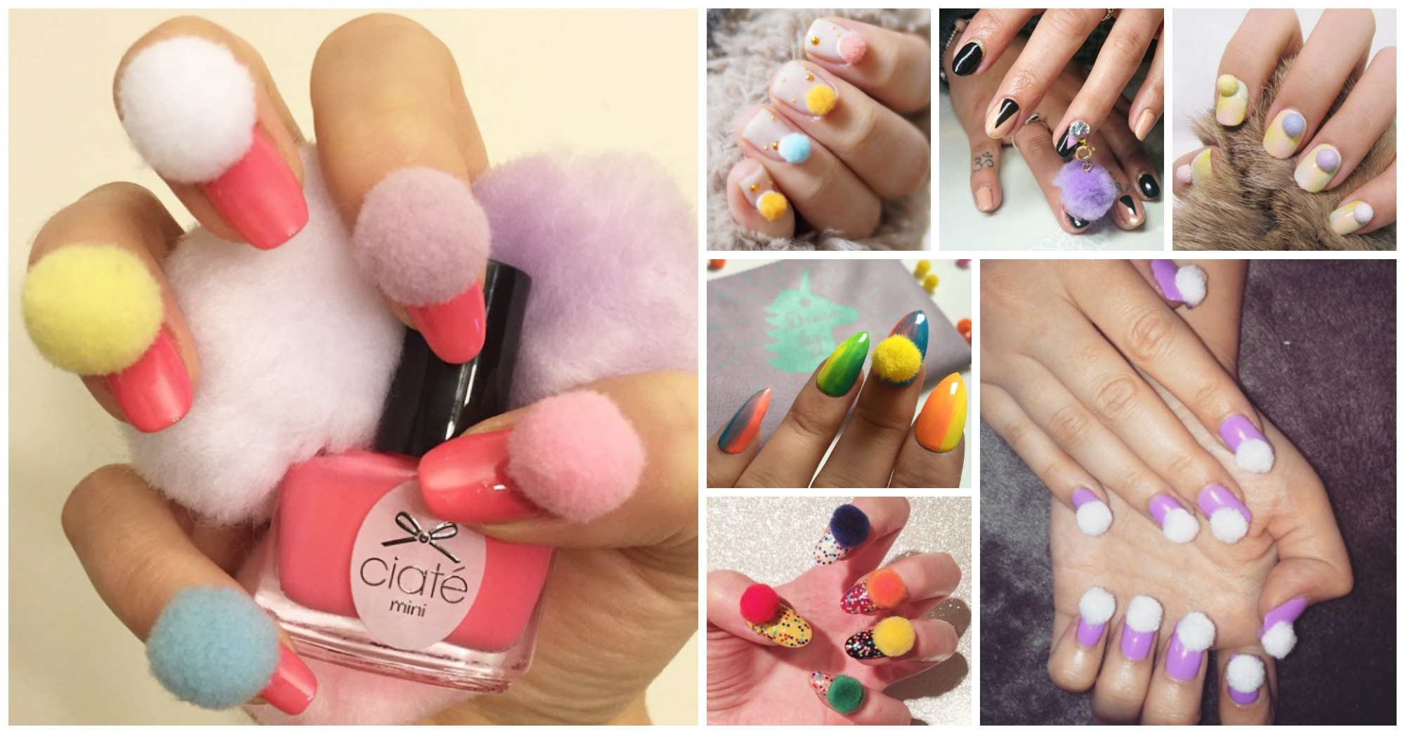 Pom – Pom Nails Are Trendy This Spring
