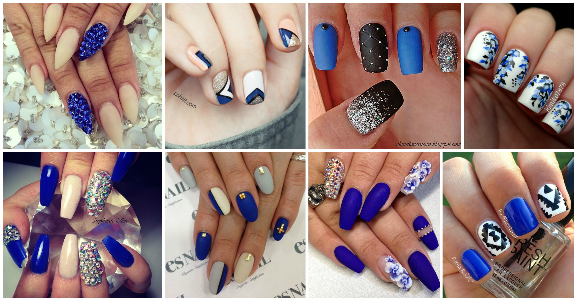 17 Lovely Blue Nail Designs That Will Leave You Speechless