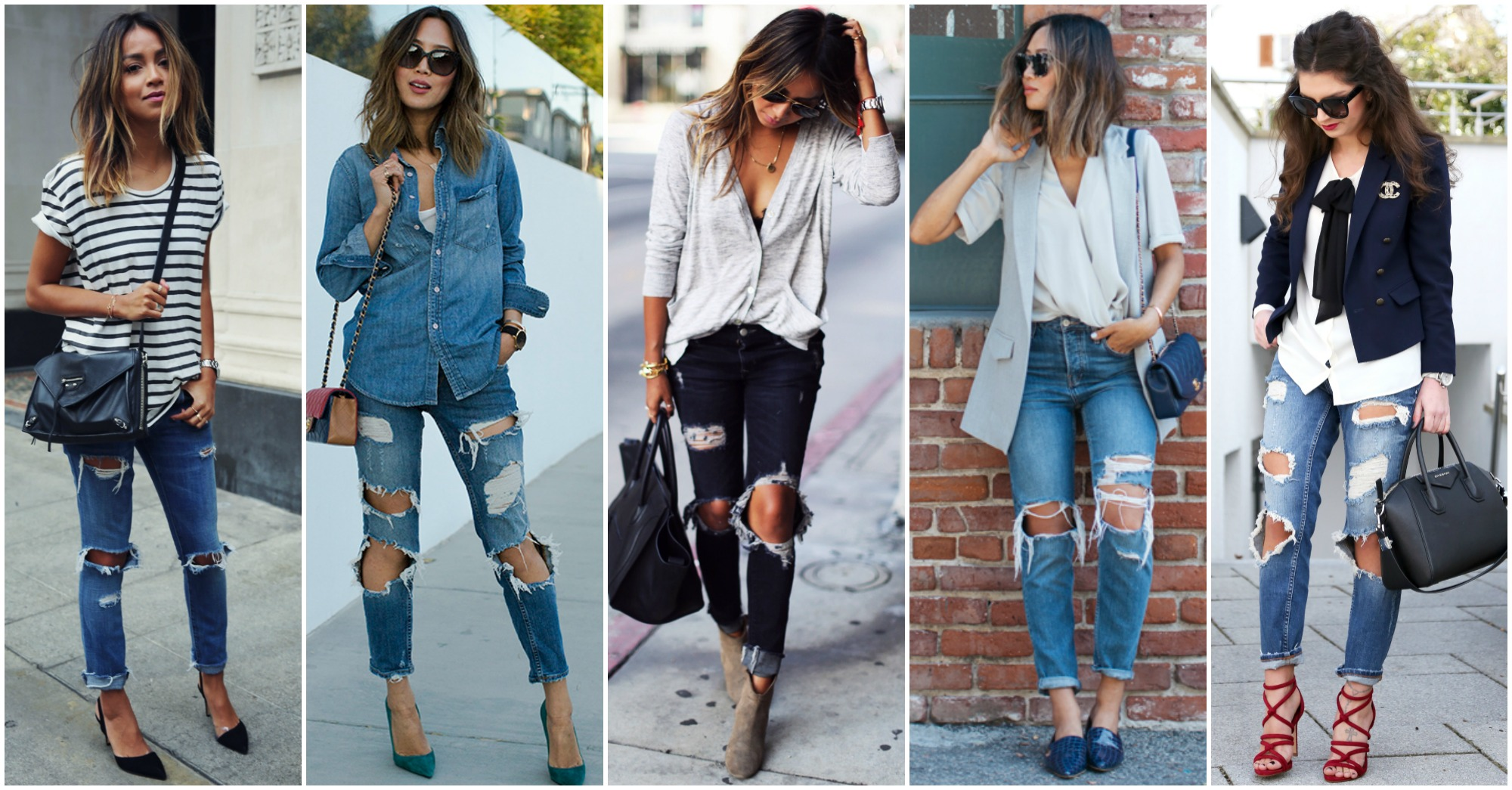 Outstanding Street Style Combinations with Ripped Jeans