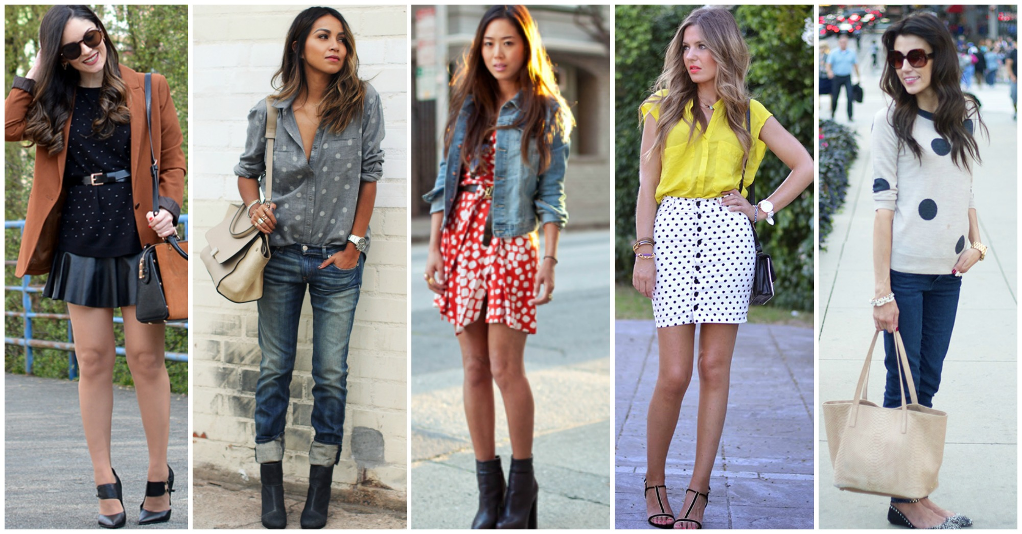 15 Fashionable Ideas of How to Wear Polka Dots This Spring