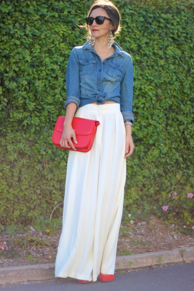 marvellous denim maxi skirt outfit
