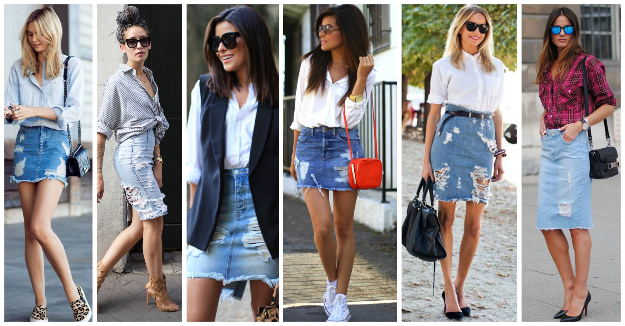 15 Chic Ways to Follow the Distressed Skirt Trend