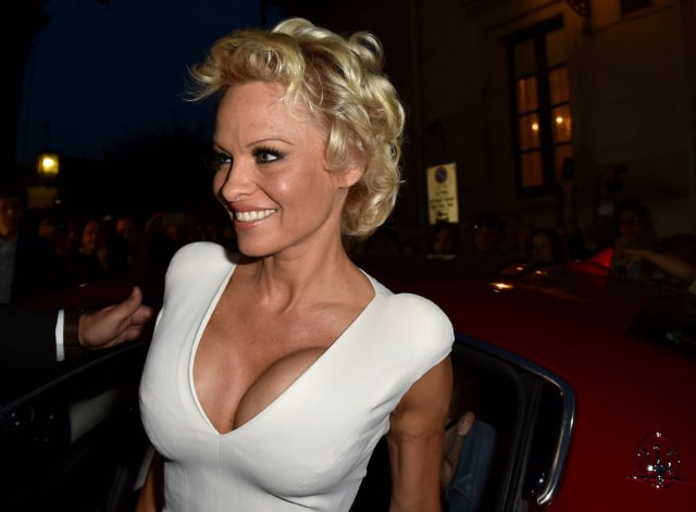 TAORMINA, ITALY - JUNE 15: Actress Pamela Anderson attends the 60th Taormina Film Festival on June 15, 2014 in Taormina, Italy. (Photo by Valerio Pennicino/Getty Images for Maserati)