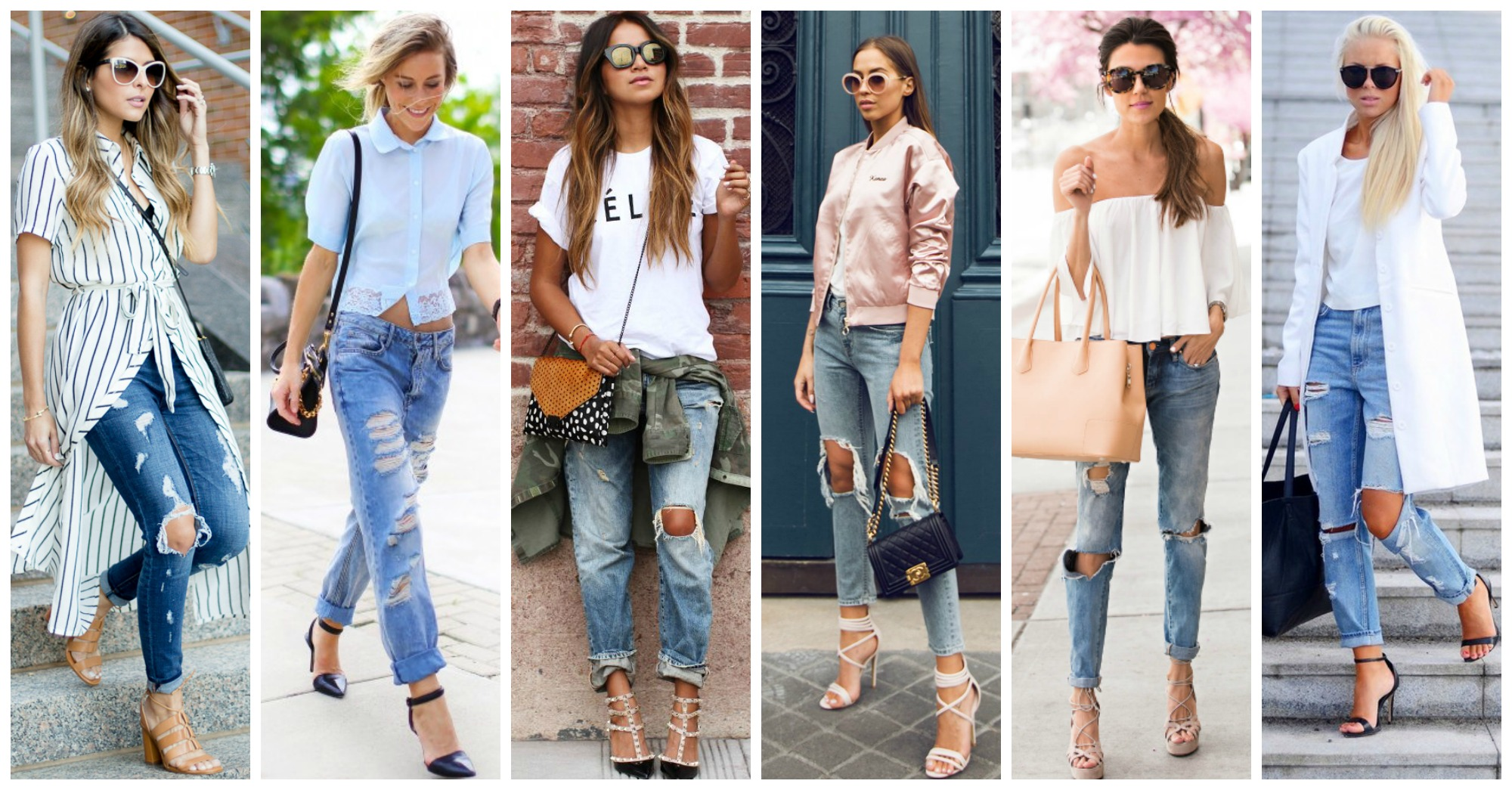 14 Outstanding Combos with Ripped Jeans to Copy Right Now