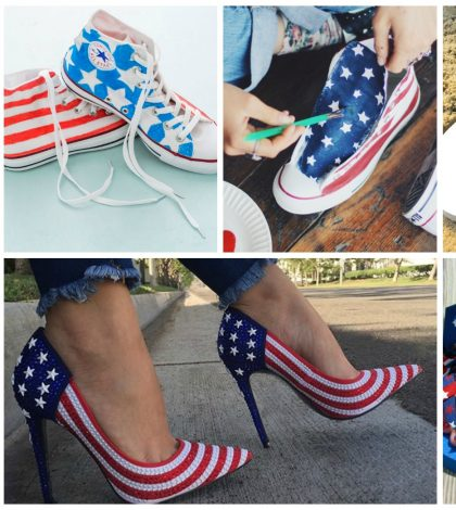 diy 4th july shoes