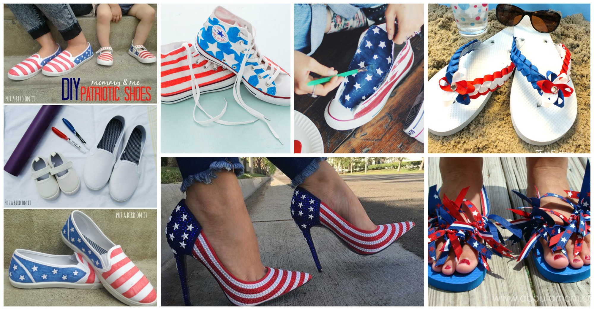 13 Awesome DIY 4th of July Shoes You Should Try to Make Now