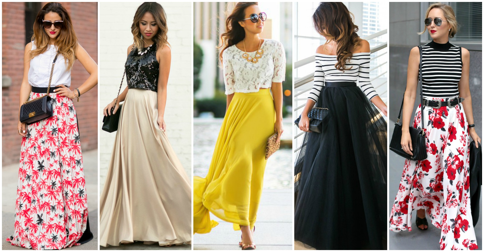 Charming Combos with Maxi Skirts to Copy This Summer
